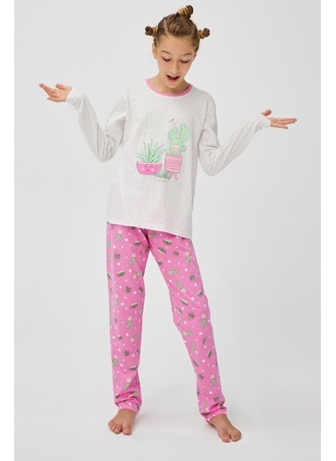 Penti Teen Cute Land 2Li Pijama Takımı Beyaz